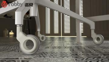 告别纯黑色的传统,家具脚轮也能展现不一样的光彩