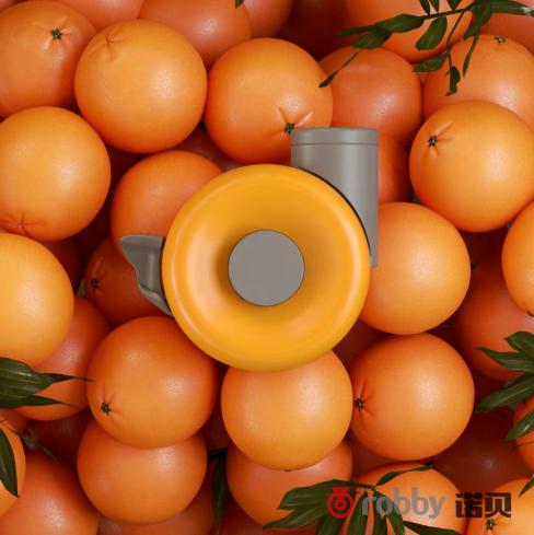 别再找啦,诺贝这种风格的脚轮最适合橙汁机
