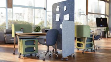 诺贝品牌脚轮丨可可 、 酷 65 、波娜,让办公室更舒适的打开方式