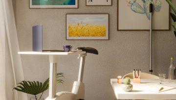 诺贝脚轮迪生的自行车脚轮设计,居家办公也能keep运动