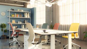 在家办公如何提高效率?带脚轮的办公家具给你飞一般的感觉!
